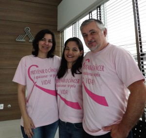 Roseane, Flávia e Sr. Cleonir.