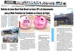 Publicação no Regata News (01/10/2014).