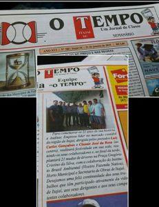 Publicação no jornal O Tempo (02/02/2015).