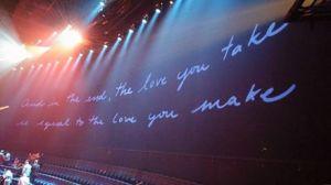 Final do show Beatles in Love, Cirque Du Soleil.
