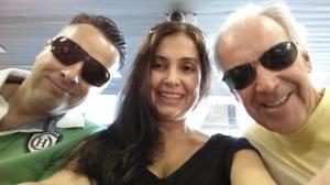 Primeiro dia de viagem, partindo para 12 dias de muita emoção, meu irmão Ricardo, eu e meu pai.