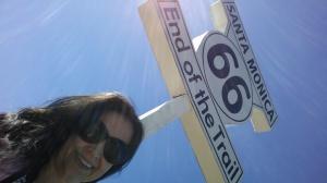 End of the Trail Rote 66, no píer Santa Monica.
