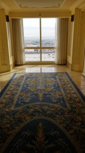 Vista do hall do nosso andar, no Hotel Paris.