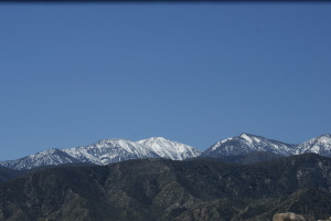 Montanhas nevadas de Vegas.
