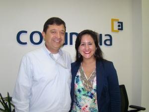 Na foto: Robson Fernandes (Colaborador Auditar) e Suzana Soares (Financeiro/Administrativo – Interporti).