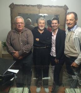 Sr. Luiz Carlos, o professor César Abicalaffe, Roseane e Sr. Udo.